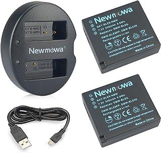 DMW-BLE9 Newmowa Batería de Repuesto (2-Pack) y Kit de Cargador Doble para Micro USB portátil para Panasonic DMW-BLE9 DMW-BLG10 Panasonic Lumix DMC-ZS60 DMC-ZS100 DMC-LX100 DMC-GF3
