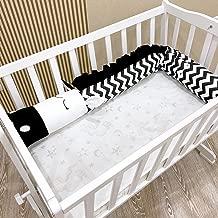 Crib Bumper Cot Protector 3D Cartoon Animal Head Guard Bumper Nursery Bedding Bumper Inner Protection for Crib(Black-White Zebra)