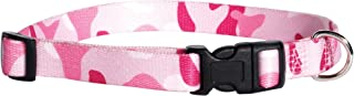 "Guardian Gear Nylon Camo Dog Collar, Fits Necks 6"" to 10"", Pink"