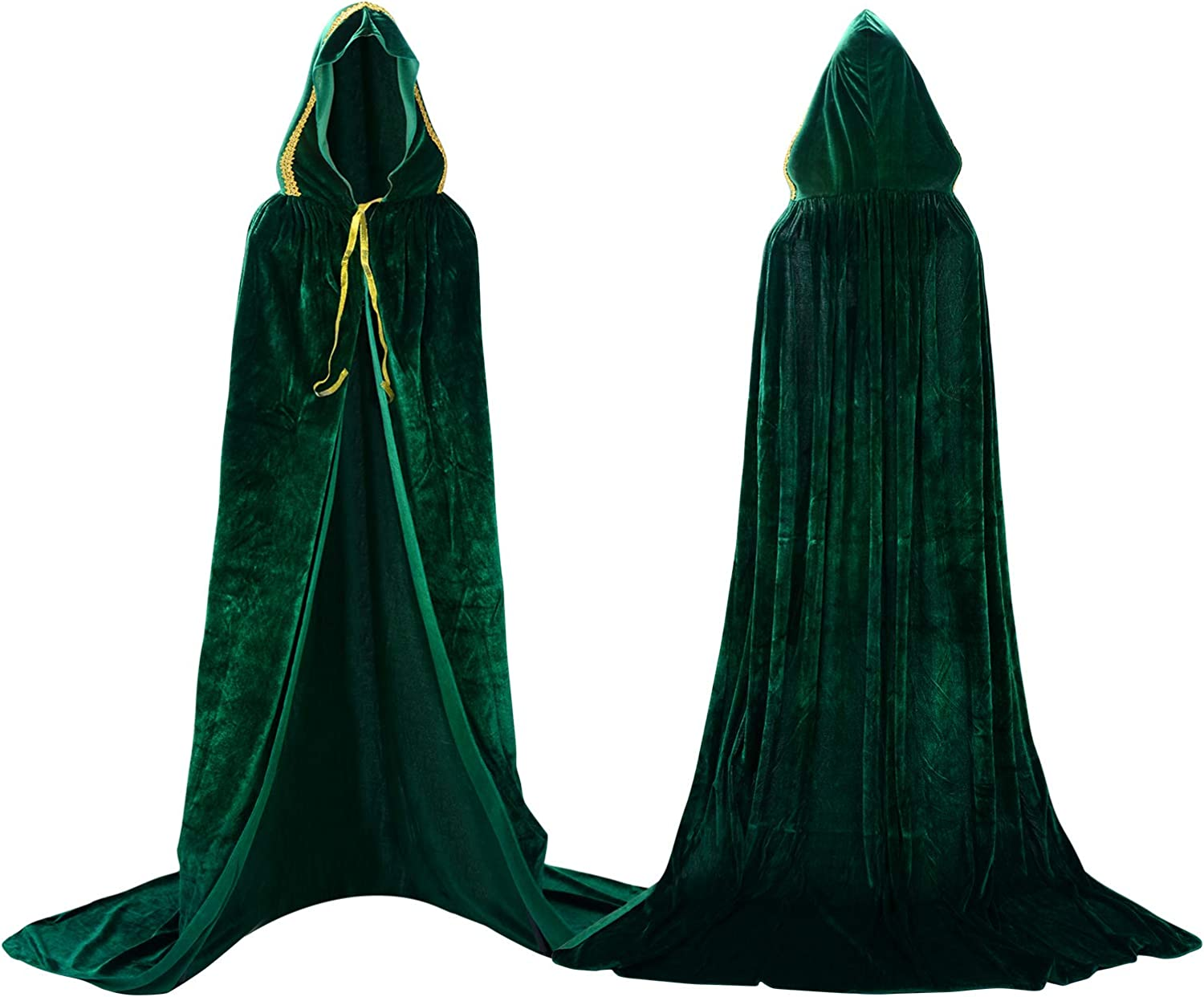 Proumhang Hooded Cloak Opening large release Limited time cheap sale sale Vampire Maxi Velvet Carniv Halloween Cape