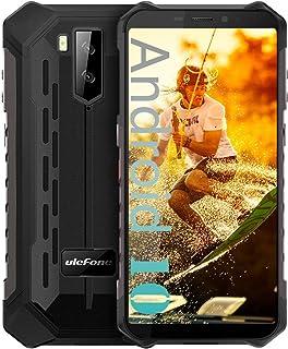 """Ulefone Armor X5 IP68防水頑丈な携帯電話ロック解除、Android 9.0屋外スマートフォン5.5""""18:9 FHD +、MT6763 3GB + 32GB、デュアル4G LTEグローバルバンド、GPS + GLONASS ..."""