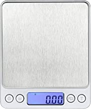 500g/0.01g Digital Kitchen Scale, High-Precision Pocket Food Scale, Multifunctional Pro Scale with Back-Lit LCD Display, Tare, PCS Features, Stainless Steel, Batteries Included (Silver)