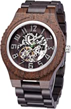 TJW Wooden Watches for Mens Automatic Mechanical Watch Lightweight Timepieces Wood Watch for Men