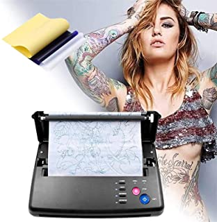 SEAAN Tattoo Transfer Machine Tattoo Stencil PrinterThermische Copier Machine met 10 stks Thermische Tattoo Transfer Papie...
