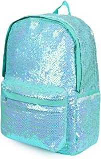Flip Sequin School Backpack Bookbag for Girls Kids Teen Cute Glitter Sparkly Book bags Back Pack