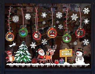 Fensterdekoration AIMERKUP Weihnachts-Wandaufkleber Heimdekoration Weihnachtsbaum Neujahr Weihnachtsdekoration 01 Eine Schneemann