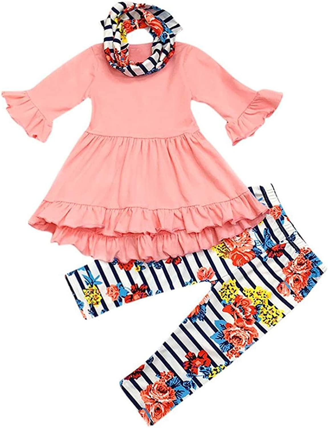 3PC Toddler Baby Girls Cute Floral Dress H Pants Christmas Ranking TOP4 Shirt Low price