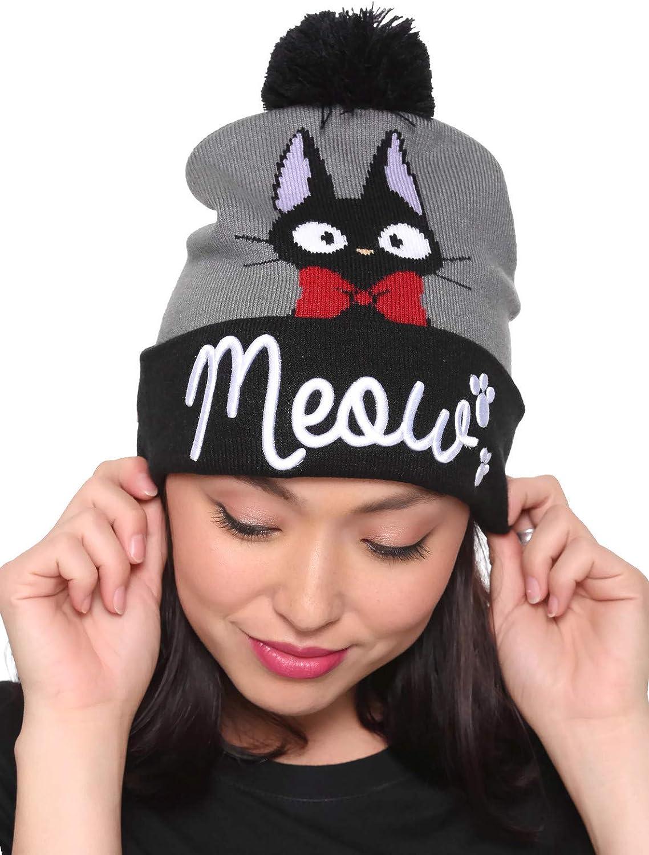 Hot Topic Studio Ghibli Kiki's Delivery Service Jiji Meow Pom Beanie