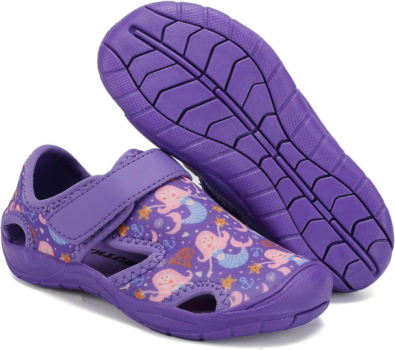 FANTURE Toddler Water Shoes Boys Girls Quick-Dry Aqua Socks Lightweight Closed-Toe Outdoor Sport Sandal Toddler//Little Kid