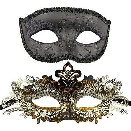 Wedding Prom Mardi Gras Crystal Masquerade Metal Mask Unisex Bridal Shower CM008