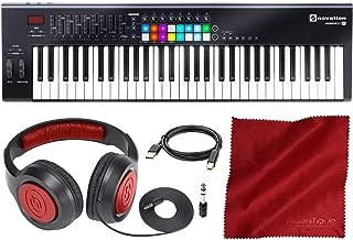 Novation Launchkey MK2 61-Key USB Keyboard Controller for Ableton Live with Headphones & Basic Bundle