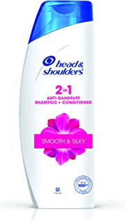 Head & Shoulders 2-in-1 Smooth and Silky Anti Dandruff Shampoo + Conditioner, 340ml/360ml (Weight May Vary)