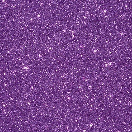 Three (3) 10'x12' Sheets of Glitter Iron-on Heat Transfer Vinyl Sheets (Lavender)