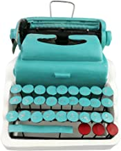 Winterworm Creative Vintage Resin Metal Green Old-Fashioned Typewriter Model Display Decoration Home Bar Retro Ornament Birthday Christmas Festival Gifts Presents