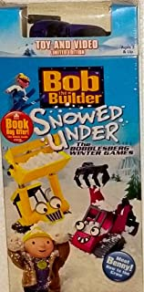 Bob the Builder Toy and Video SET Snowed Under VHS - Winter Games - With Rare Zoomer Snowmobile Vehicle