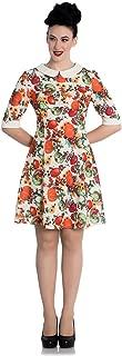 Hell Bunny 60's Retro Autumn Pumpkin Berries Mini Dress
