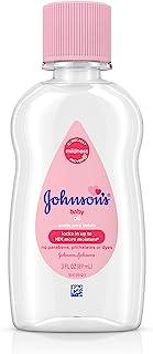 Johnson's Baby Oil, Pure Mineral Oil to Prevent Moisture Loss, Hypoallergenic, Original 3 fl. oz (Pack of 2)