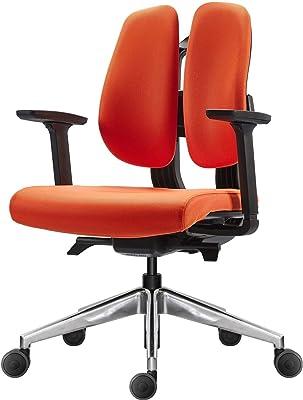 DUOREST(デュオレスト) オフィスチェア オレンジ 幅67.6×奥行60.4×高さ86.9-96.9cm Dシリーズ D150SPORANGE