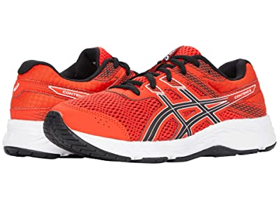 ASICS Kids GEL-Contend 6 (Little Kid/Big Kid) (Fiery Red/Black) Boy