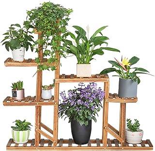 UNHO Estantería para Plantas Soporte de Madera para Flores