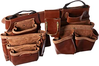 Style n Craft 98444 19 Pkt Framer's Combo in Top Grain Leather (4 Piece), Tan