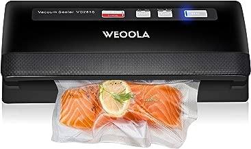 WEOOLA Vacuum Sealer Machine/Foodsaver Vacuum Sealing System,Automatic Food Sealer Vacuum Packing Machine for Food Preservation,Sous Vide and Mason Jar| 3 Sealing Options| 4 Food Modes| 10 Sealer Bags
