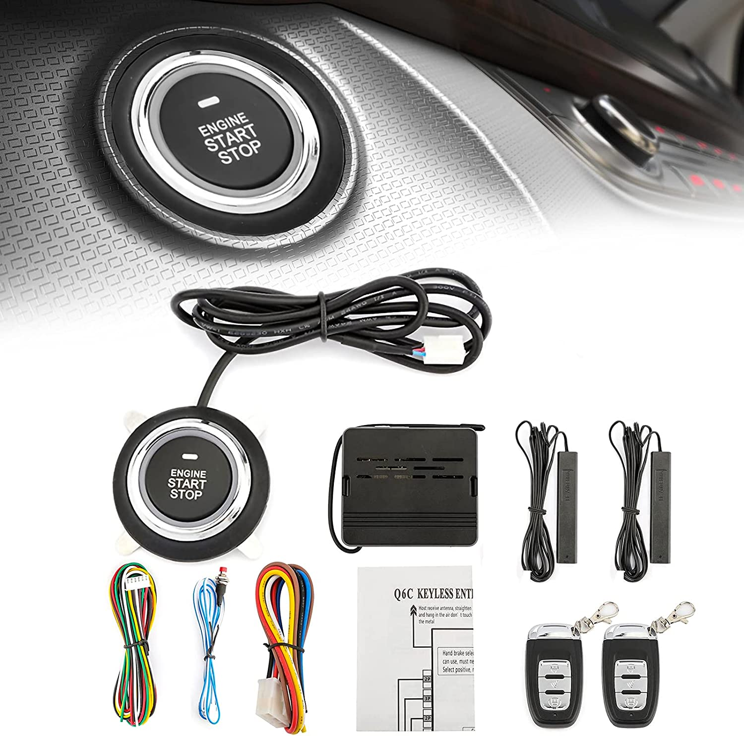 AUXMART Universal Remote Starters Chicago Mall for Credence Cars Start 12V Car