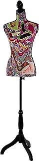 Mannequin de Couture de Tailleur Buste Torse féminin T222 - Fibre de Verre, Motif Talons Aiguille