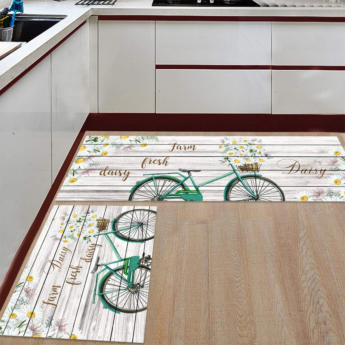 Prime Leader Kitchen Mat Popular and Rugs Set of Bicycle Funny with D Nippon regular agency 2