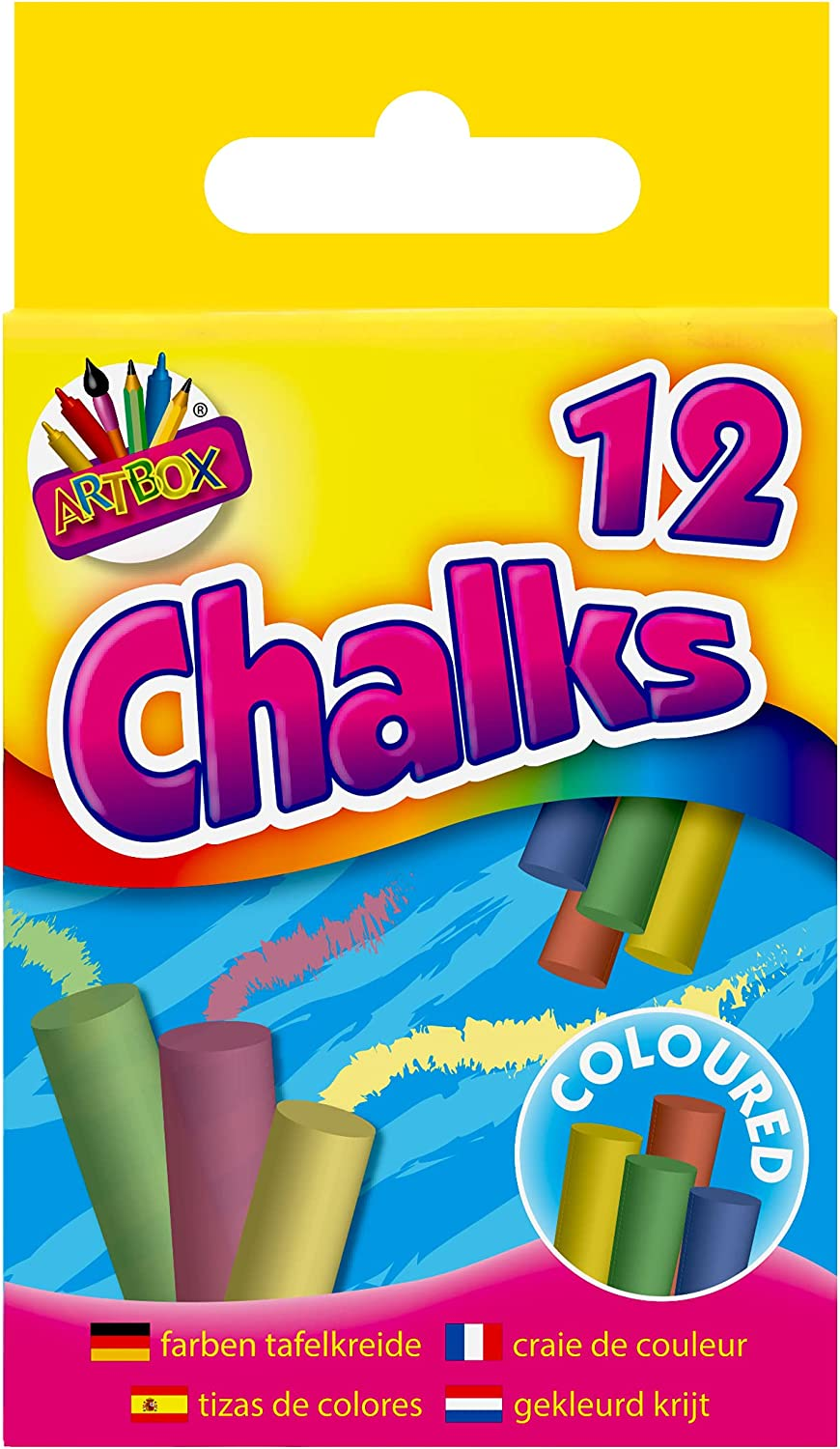 Coloured Chalks 5% OFF Max 77% OFF Box of 12 Colour World Mixed by Colours