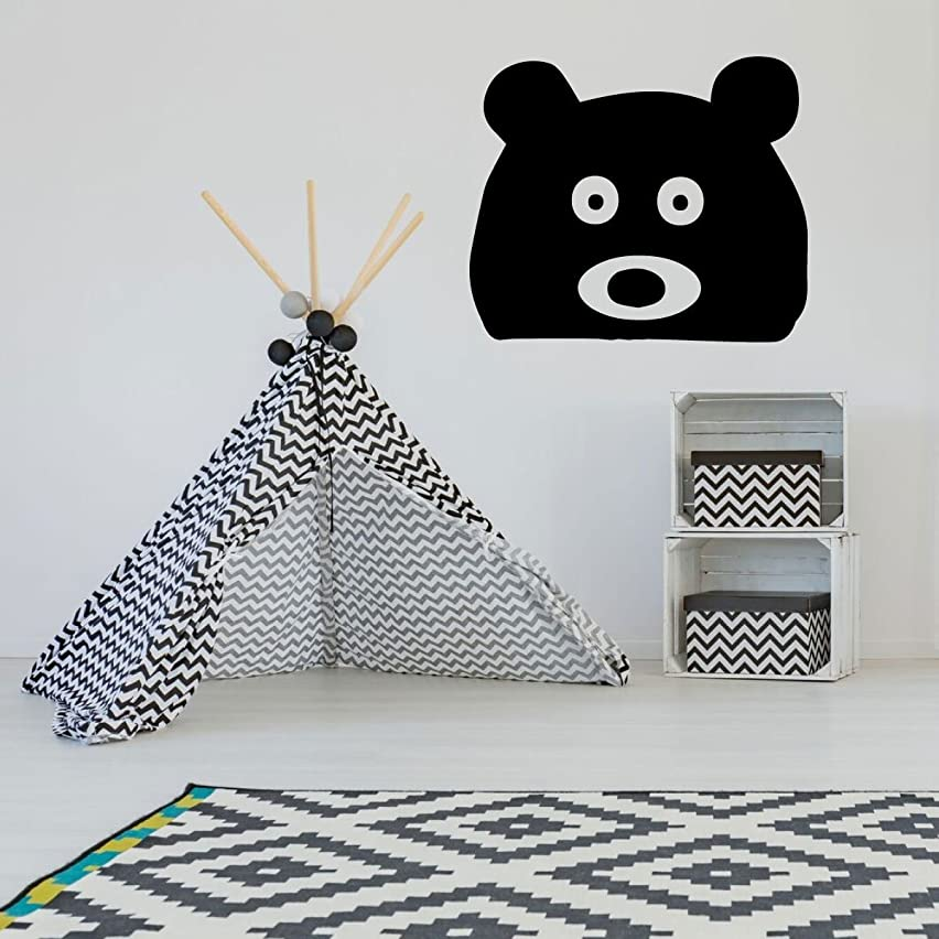 Bear Head Wall Decal - Vinyl Sticker Silhouette Decoration for Children's Bedroom, Playroom or Nursery Decor