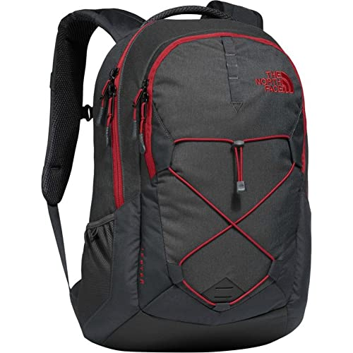 The North Face Jester Backpack, TNF Dark Grey/TNF Red