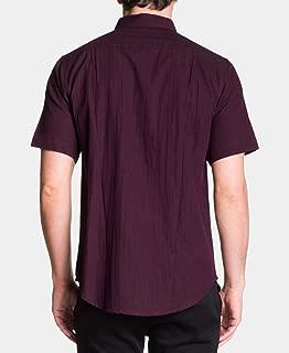 Ezekiel Men's Herringbone Shirt (Wine, S)