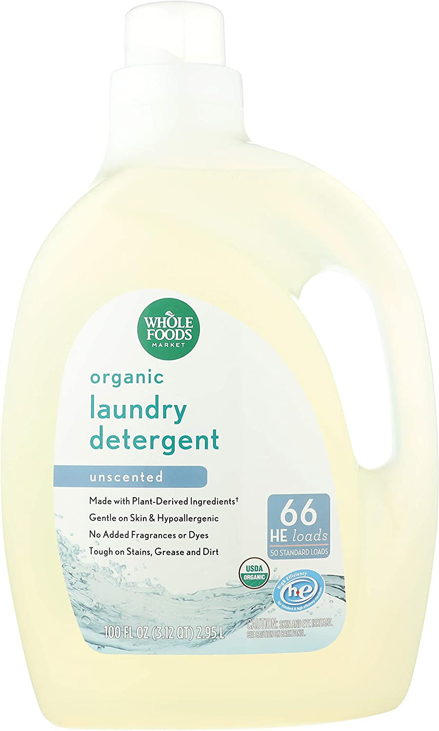 Whole Foods Market Organic Seattle Mall Laundry HE Uns Loads Indefinitely 66 Detergent