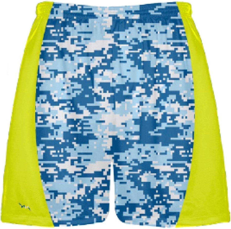 LightningWear bluee Digital Camouflage Lacrosse ShortsLacrosse ShortsYouth Lax Shorts