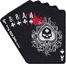 Ace Of Spade Dead Mans Hand skull spade iron on patch