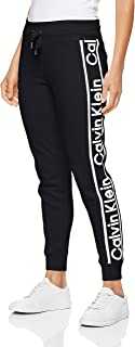 Calvin Klein Women's Jogger with Rib Cuffs and Logo Tape