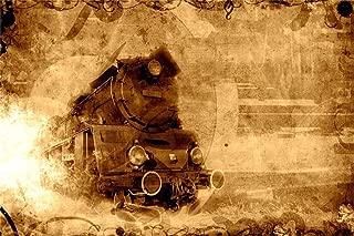 Leyiyi 9x6ft Czech Old Locomotive Backdrop Steam Punk Abandoned Train Russia Railway Station Heavy Metal Grunge Graffiti Wall Photo Background Western Cowboy Adult Portrait Studio Prop Vinyl Banner