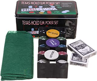GENERIC Professional Casino 200 Piece TEexas Hold'em Poker Game Play Set Comes In Tin Box Tool