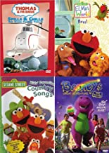 Living + Learning Toddler 4 DVD Pack: Thomas & Friends Spills & Chills + Elmo's World Pets + Sesame Street Kid's Favorite Country Songs + Barney's Great Adventure The Movie MEGA SUPER BUNDLE