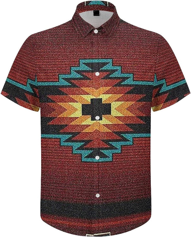 Hawaiian Shirts for Men Retro American Style Fabric Printed Beach Shirt Hawaiian Shirts