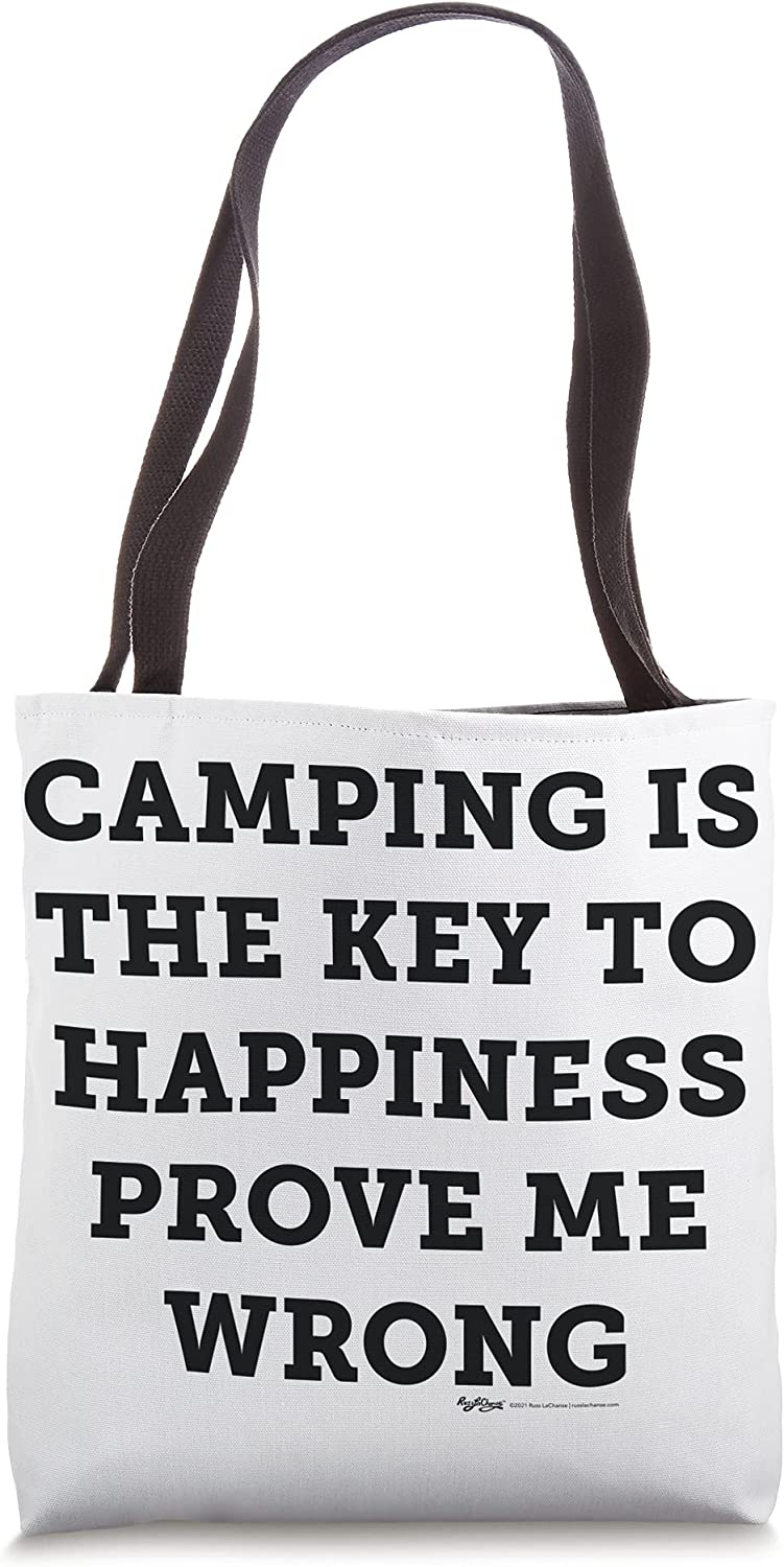 Camping Is The Key ToHappinessProve Me Conspiracy Theorist Tote Bag