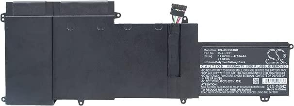 4750mAh Battery for Asus U500VZ, U500VZ-CN032H, UX51, UX51VZ, UX51VZA, UX51VZ-CM042P, UX51VZ-CN025H, UX51VZ-CN035H, UX51VZ-CN036H