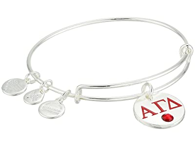 Alex and Ani Color Infusion Alpha Gamma Delta II Bangle (Shiny Silver) Bracelet
