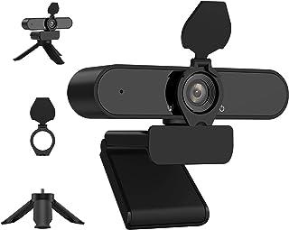KIWI Design ウェブカメラ HD1080P 200万画素 高画質パソコンカメラ ワイドサイズ対応 内蔵マイク skype会議用PCカメラ Windows 10/8 / 7 Mac OS X, Youtube, Skype