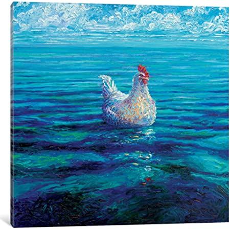 Amazon Com Icanvasart Icanvas Chicken Of The Sea Gallery Wrapped Canvas Art Print By Iris Scott 12 X 12 Posters Prints