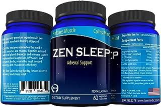 Zen Sleep   Non-Addictive Sleep Aid w/Adrenal Support. Contains Magnesium and Organic Herbs; Chamomile, Lemon Balm, Passion Flower, Holy Basil. No melatonin