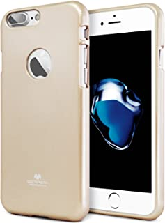 Goospery Pearl Jelly for Apple iPhone 7 Plus Case (2016) Slim Thin Rubber Case IP7P-JEL Gold IP7P-JEL-GLD