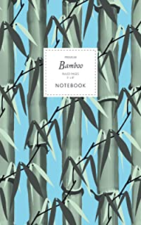 Bamboo Notebook - Ruled Pages - 5x8 - Premium: (Sky Blue Edition) Notebook 96 ruled/lined pages (5x8 inches / 12.7x20.3cm...