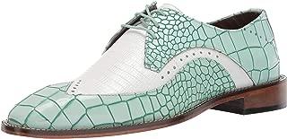 Men's Trazino Croco-Lizard Print Wingtip Lace-up Oxford